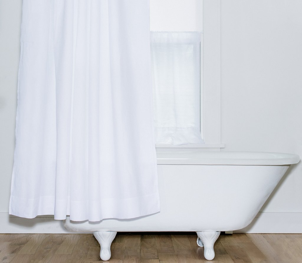 Shower Curtain 100 Polyester Self Stripes Water Repellent